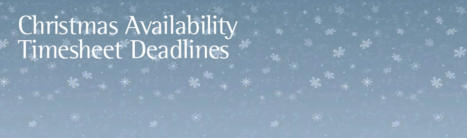 christmas availability and seasonal timesheet delivery dates jane