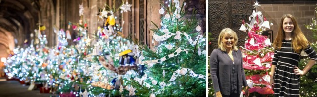 Jane Lewis nursing agency sponsor a tree at Chester Cathedral Tree Festival