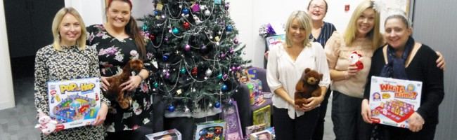 Jane Lewis Nursing Agency Donate Christmas Toys to Salvation Army