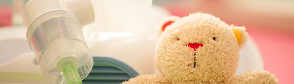 Teddy bear and nebuliser